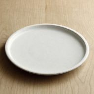 w2532-1201 φ21.3x2.0白釉細リム皿(黒木奏等)