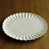 w2548-1201 φ22.0青磁菊形大皿