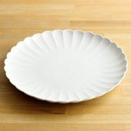 w2549y-751 φ25.0白磁菊型皿