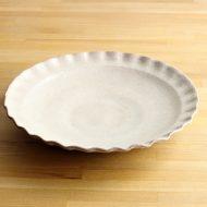 w2559-3001 φ30.5x4.6白釉縁波大皿