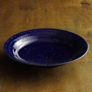 w2596-1001 φ21.5x4.3瑠璃色大皿
