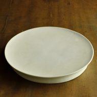 w2600-1501 φ24.5x3.3淡青磁貫入台付皿