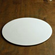 w2615-1501 φ29.5白磁マット平大皿