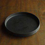 w2616-1001 φ21.5x2.5黒艶なし縁高皿
