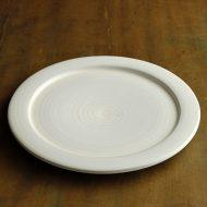 w2660-1001 φ23.2小石窯ポッタリーリム白平皿