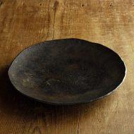 w2683-901 φ22.8x2.8黒うるし塗り皿
