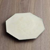 w2709-801 φ22.0白釉薬八角皿(中)