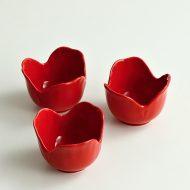w3025-15-3 φ6.0x4.4朱花豆鉢