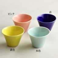 w3030 カラフル楕円珍味入れ 黄、水色、ピンク、青