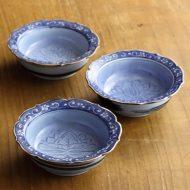w3076-45-3 φ8.7x2.8唐草染付豆鉢