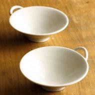 w3083-40-2 11.0x9.6x3.3粉引き手つき豆鉢