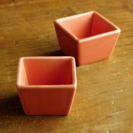 w3091-10-2 5.7x5.7x3.7サーモンピンク角豆鉢