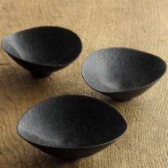 w3095 黒楕円豆鉢(黒木 奏等)