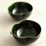 w3097 織部ひさご豆鉢(黒木 奏等)