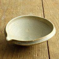 w3501-100-1 15.0x13.5x5.2黄粉引き片口鉢