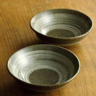 w3505-20-2 φ13.0x3.3茶釉刷毛目鉢