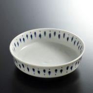 w3507-45-1 φ13.6x4.0染付け縁高鉢