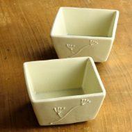 w3519-20-2 9.3x9.3x4.8花びら角小鉢