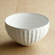 w3539-90-1 φ11.6x6.5白釉しのぎボール(黒木奏等)