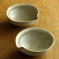 w3605-45-2 13.3x12.7x5.0灰釉薬かた口小鉢(吉井 史郎)