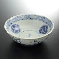 w3608-90-1 φ14.6x4.6九谷手書雷門中鉢