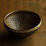 w3610-60-1 φ12.0x6.0茶中筋目鉢
