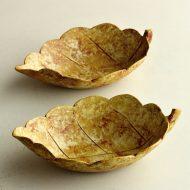 w3613-30-2 14.8x9.4x3.8黄瀬戸風葉形鉢