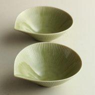 w3616-15-2 13.5x12.5x4.3薄緑しずく鉢