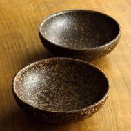w3618-15-2 φ12.4x4.3こげ茶取鉢