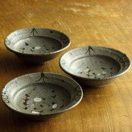 w3625-60-3 φ13.2x4.2グレー小花柄鉢