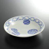 w3627-50-1 φ14.5x2.8染付丸紋平鉢