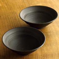 w3644-75-2 φ12.8x4.3黒艶なし鉢