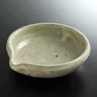 w3676-45-1 14.5x14.0x4.0灰釉片口浅鉢