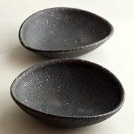 w3710 黒たわみ粗目小鉢(角掛 政志)