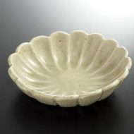 w3718-60-1 14.0x13.2x3.7灰釉菊鉢