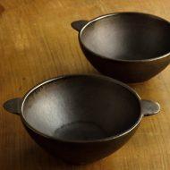 w3723-35-2 17.5x13.5x6.0銀彩濃茶手つき鉢