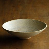 w3729-25-1 φ14.3x4.0薄茶平鉢 はしもと さちえ