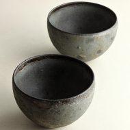 w4008-120-サイズ:12.8x8.5鉄釉小丼(えf