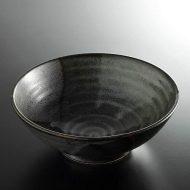 w4009-20-サイズ:φ19.8x7.3黒色紙麺鉢