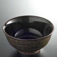 w4021-20-サイズ:φ15.7x7.7黒釉外まだら鉢