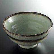 w4031-20-サイズ:φ16.1x7.9水色縁濃茶鉢