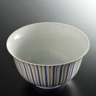 w4052-50-サイズ:φ14.7x8.3青茶二色十草丼