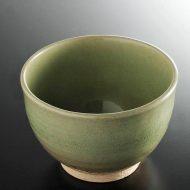 w4054-50-サイズ:φ14.0x9.5淡緑ガラス釉丼