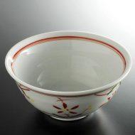 w4108-60-サイズ:φ16.5x7.5紅花そば鉢