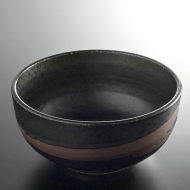 w4123-20-サイズ:φ18.0x8.0黒横茶帯丼