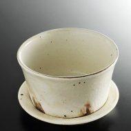 w4130-90-サイズ:φ13.8x9.0信楽粉引き皿付き小丼