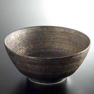 w4133-90-サイズ:φ17.7x8.0金刷毛目ラーメン鉢(究極のラーメン鉢)