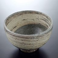 w4154-90-サイズ:φ16.3x10.3グレー白刷毛目丼鉢