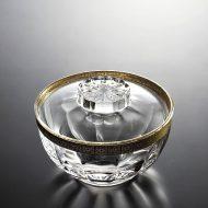 w4507-90-1 φ12.5x6.5ふたは含みません金飾りガラスふた付鉢