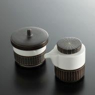 w5009-60-11 φ5.5x5.2 6.0x4.5x5.3こげ茶/しろ七味入れ 醤油さし